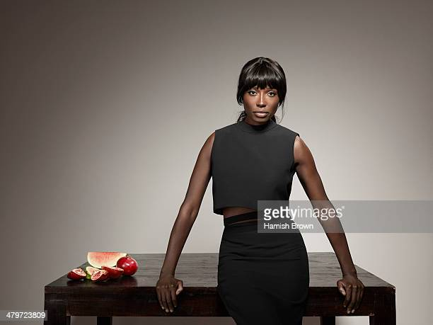 Cook tv presenter and former model Lorraine Pascale is photographed for ES magazine on January 7 2014 in London England