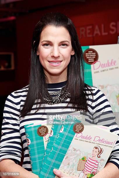 Cookbook author Jessica Seinfeld promotes 'Double Delicious' at the Real Simple PopUp Shop in Rockefeller Center on December 3 2010 in New York City