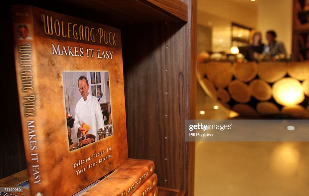 Cookbooks are on display in the entrance to the Wolfgang Puck restaurant at the new MGM Grand Detroit, an $800 million luxury hotel and casino that opens to the public tonight at midnight October 2, 2007 in Detroit, Michigan. Upon opening, MGM Mirage, the parent company of the MGM Grand Detroit will have invested more than $1 billion into the community with the intent of fueling economic growth and helping redevelop downtown Detroit to increase business and leisure travel to the area.