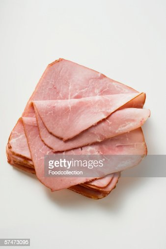 Cooked ham, sliced