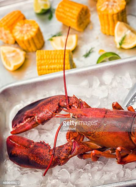 Cooked Lobster Served with Sweetcorn, Lemon and Parsley