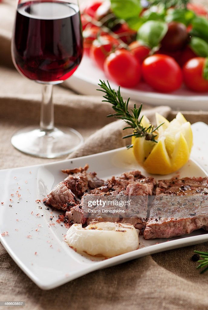 Cooked meat : Stock Photo