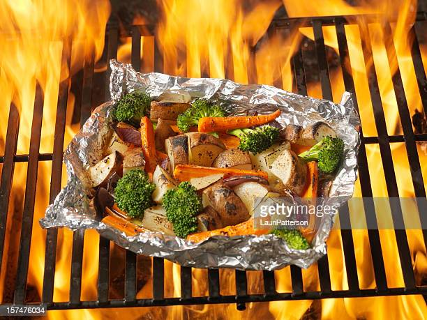 Cooked Vegetables on the BBQ Grill