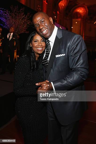 Cookie and Earvin 'Magic' Johnson attend the 2014 Steve Marjorie Harvey Foundation Gala presented by CocaCola at the Hilton Chicago on May 3 2014 in...