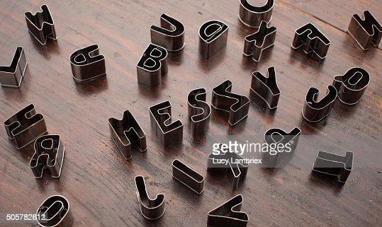 cookie cutter letters misspelling messy as meszy