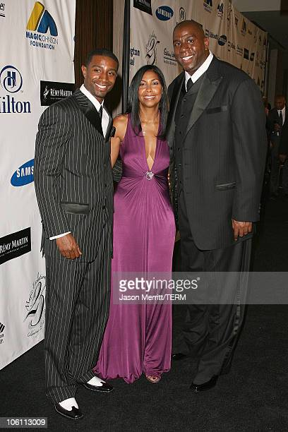 Cookie Johnson and Earvin 'Magic' Johnson with Andre Johnson