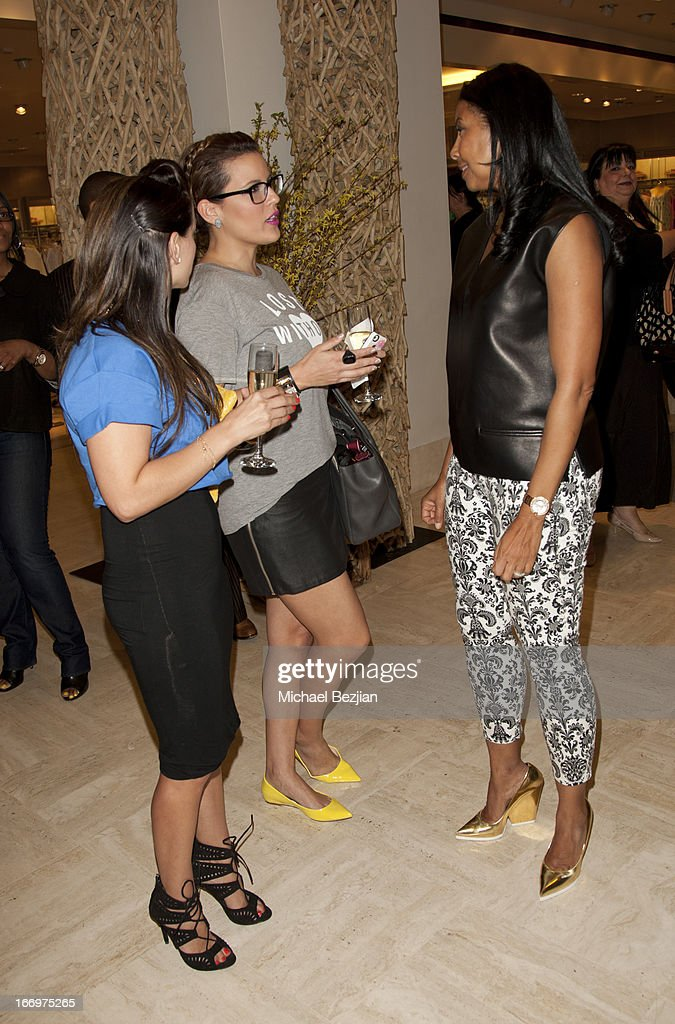 Cookie Johnson, Cleo Kaden and Emily Rosedale attend Cookie Johnson And Neiman Marcus Host Girls Night Out on April 18, 2013 in Beverly Hills, California.