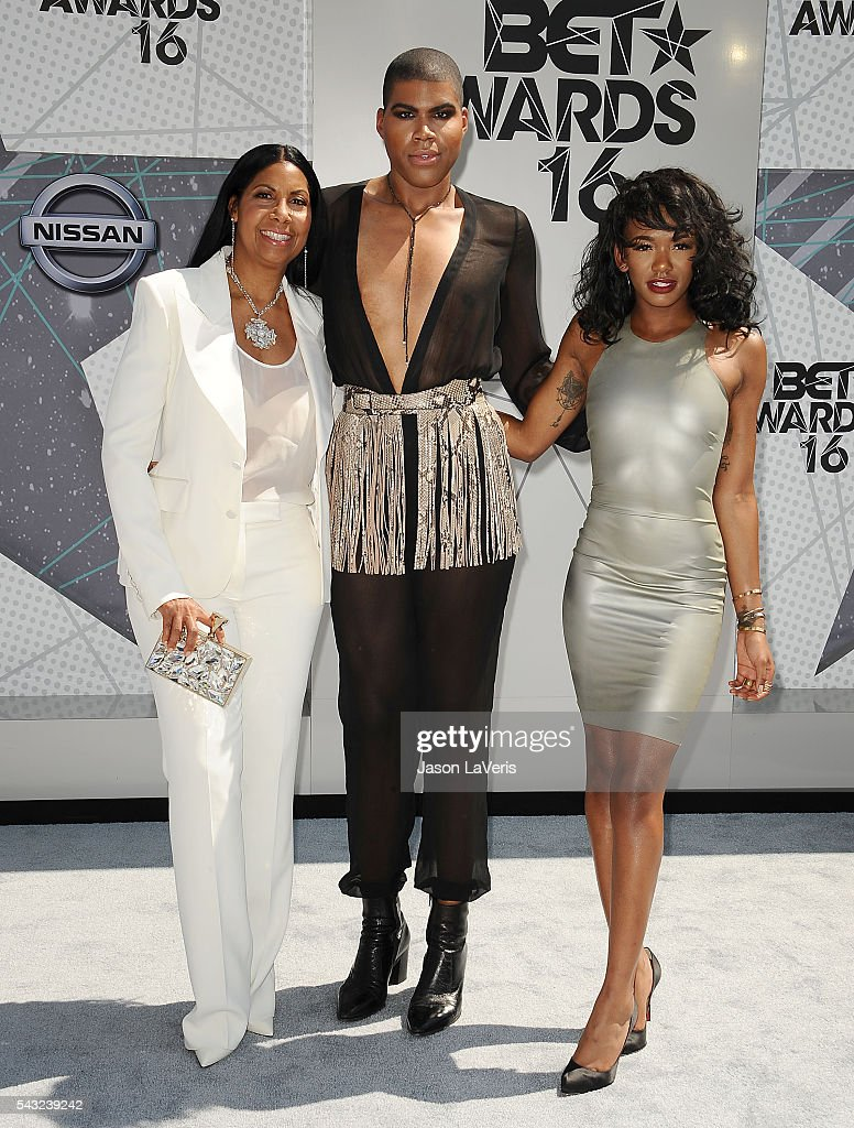 <a gi-track='captionPersonalityLinkClicked' href=/galleries/search?phrase=Cookie+Johnson&family=editorial&specificpeople=846852 ng-click='$event.stopPropagation()'>Cookie Johnson</a>, EJ Johnson and Elisa Johnson attend the 2016 BET Awards at Microsoft Theater on June 26, 2016 in Los Angeles, California.