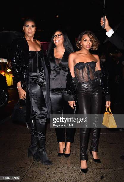 Cookie Johnson EJ Johnson Elisa Johnson arrives to the Tom Ford Spring/Summer 2018 Runway Show at Park Avenue Armory on September 6 2017 in New York...