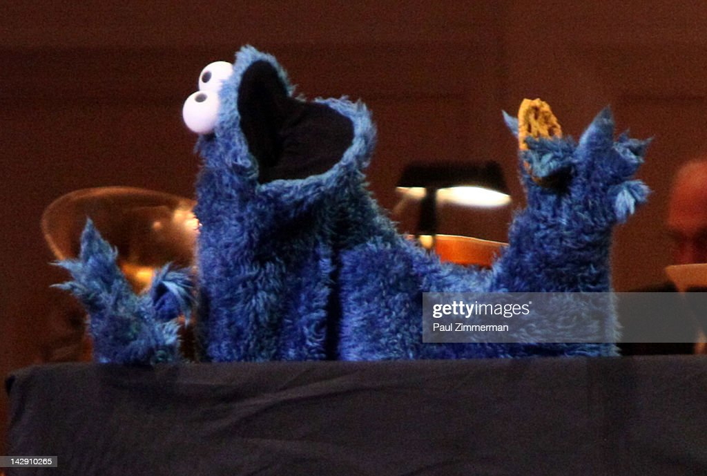 Cookie Monster performs during The New York Pops Present 'Jim Henson's Musical World' at Carnegie Hall on April 14, 2012 in New York City.