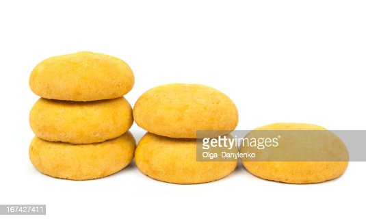 cookie sweets on white background : Stock Photo
