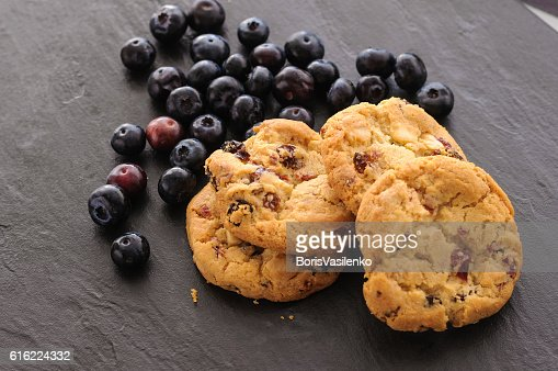 cookies and blueberries : Stockfoto