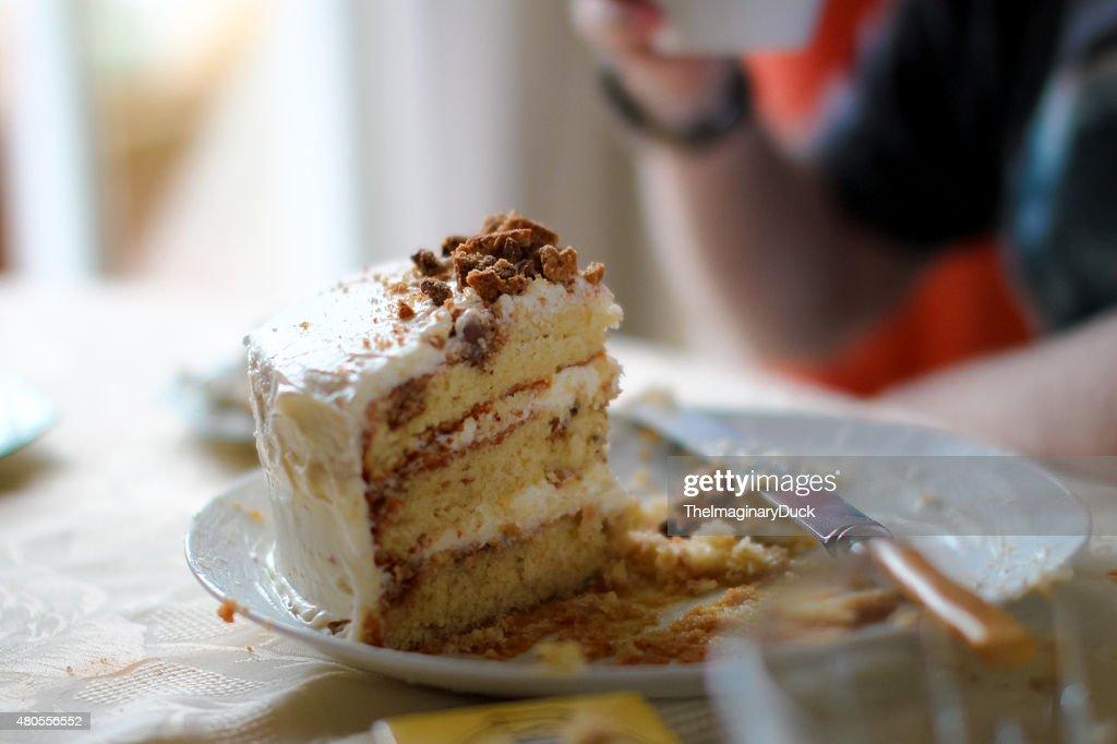 Cookies and cream birthday cake : Stock Photo