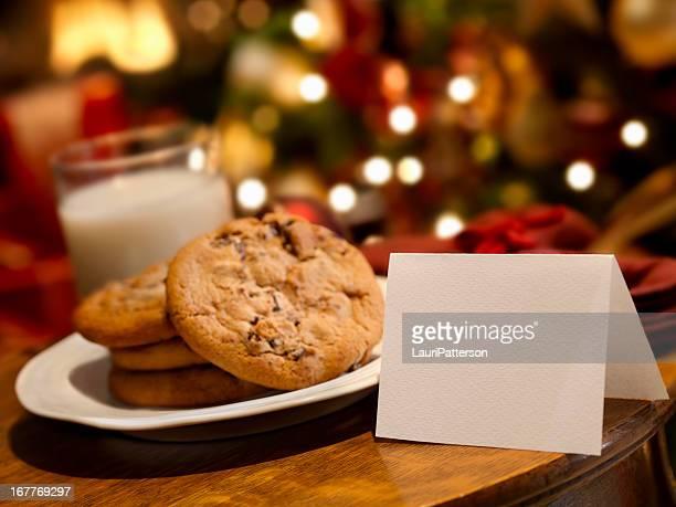 Latte e biscotti per la Santa