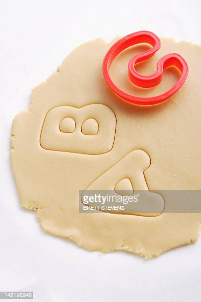 Cookies cut in letter shapes