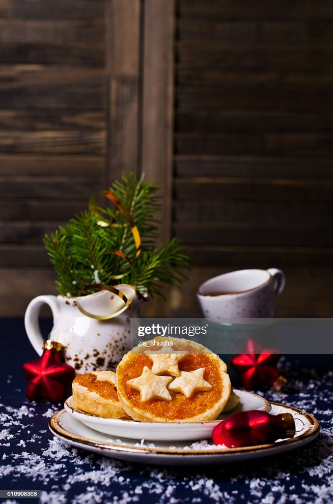 Cookies from puff pastry with jam : Stock Photo