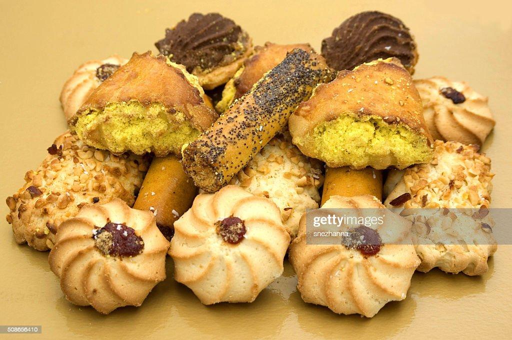 Cookies in assortiment : Stock Photo