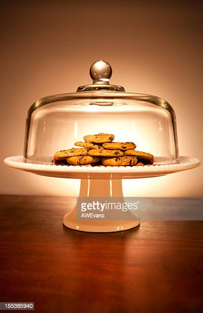 Cookies on a serving dish