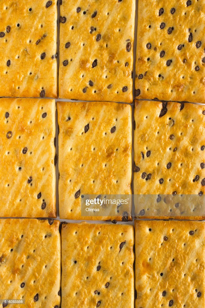 Cookies with chocolate chips : Stock Photo
