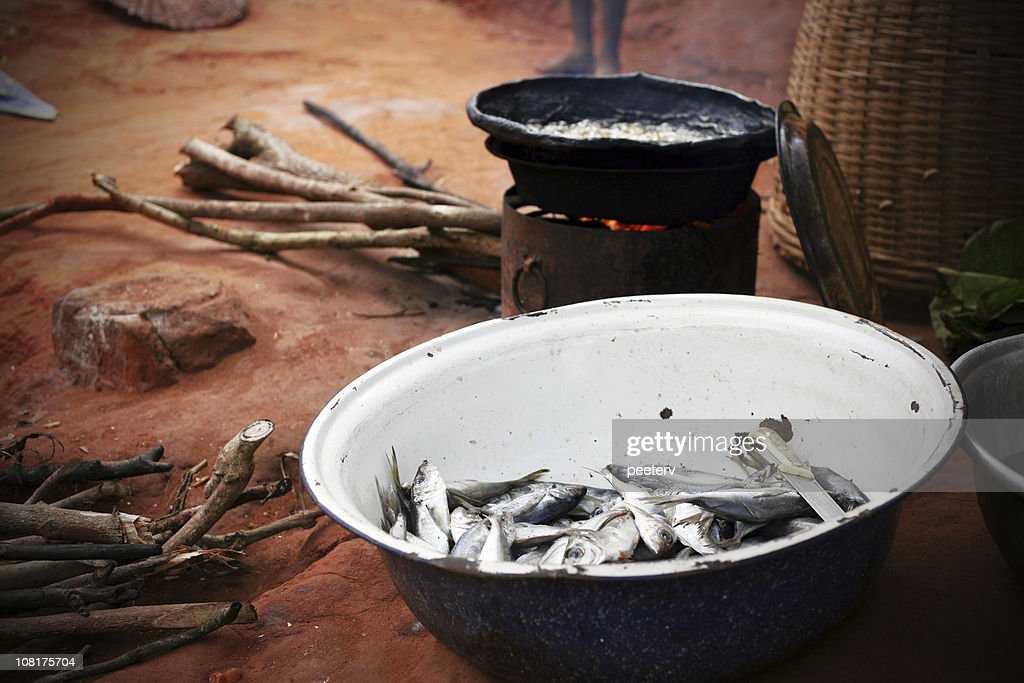 cooking african food : Stock Photo