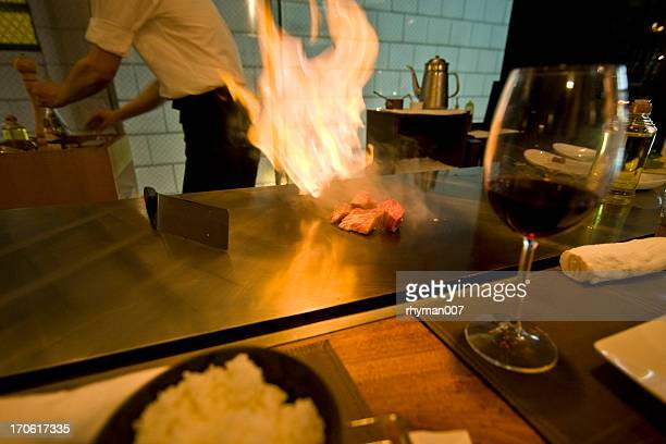 Cooking Beef Flame