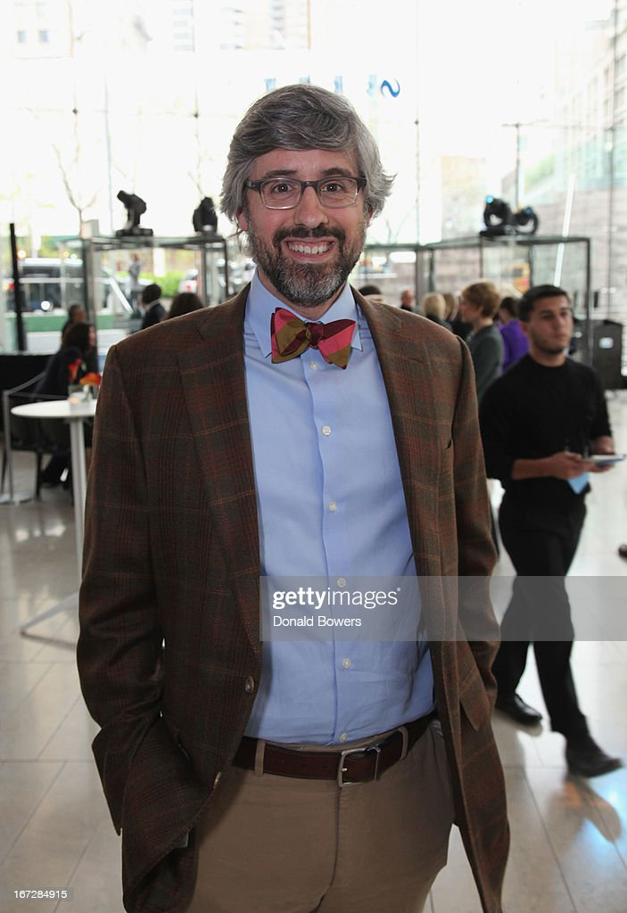 Cooking Channel TV personality Mo Rocca poses for a photo as Scripps Networks Interactive hosts the 2013 Upfront on April 23 2013 in New York City