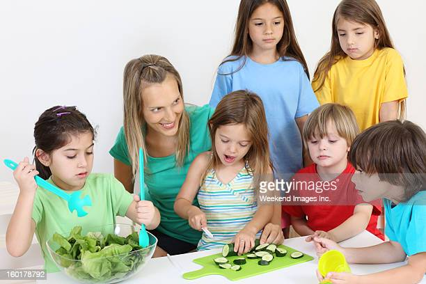 Cooking children