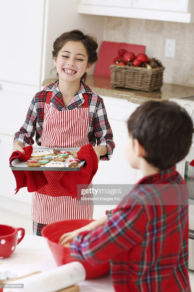 Cooking Christmas cookies : Stock Photo