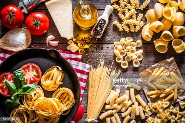 Cooking delicious italian pasta