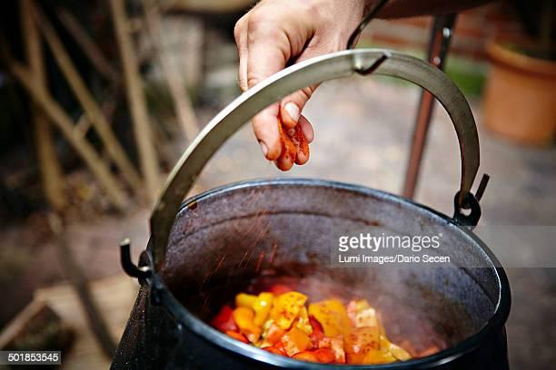 Cooking Goulash Stew