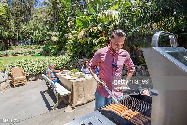 Cooking in the  barbecue