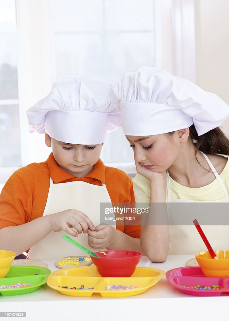 Cooking kids : Stock Photo