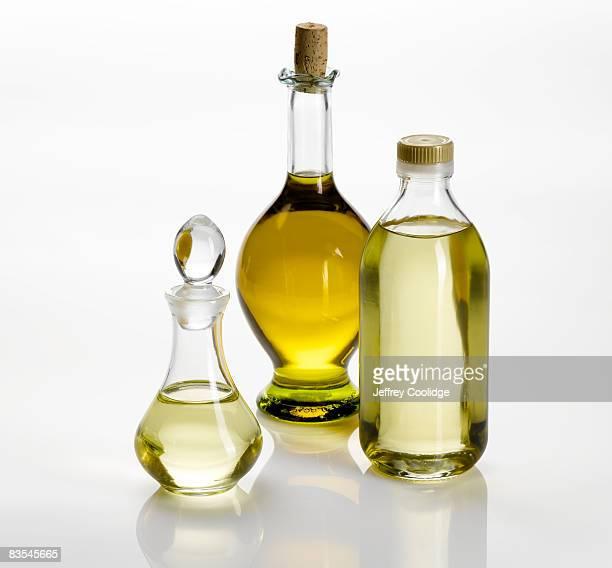 Cooking oils in bottles still life