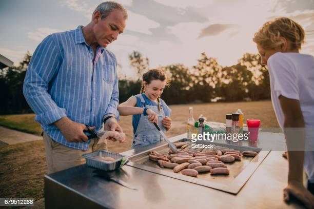 Cooking Sausages on the BBQ