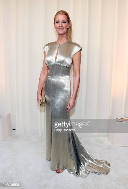 Cooking Show Host Sandra Lee arrives at the 20th Annual Elton John AIDS Foundation Academy Awards Viewing Party at The City of West Hollywood Park on...