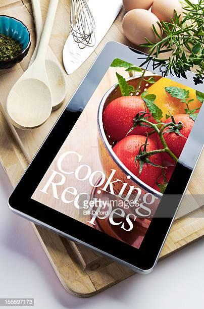 La cuisine à l'aide de Tablette numérique