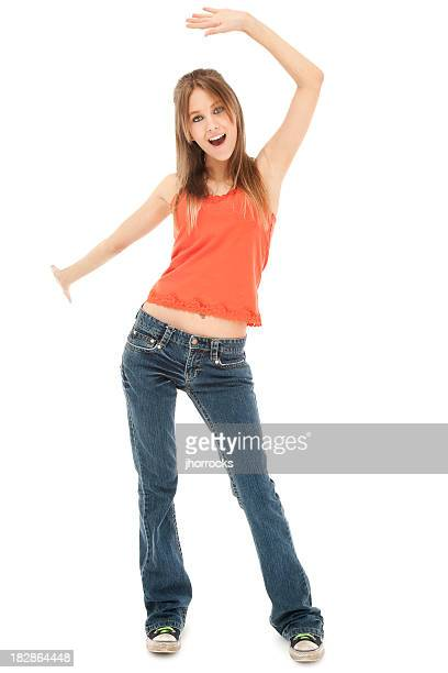Cool Casual Teen Dancing