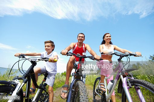 Cool cyclists : Stock Photo