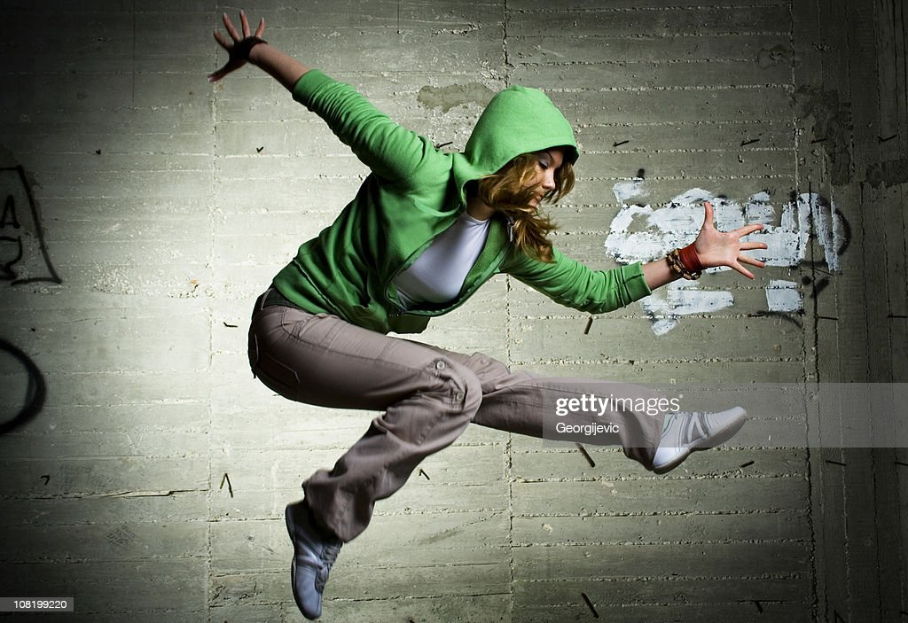 Cool dancing girl : Stock Photo