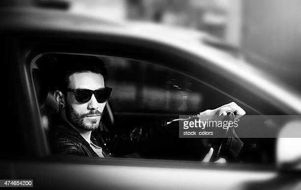 cool driver portrait