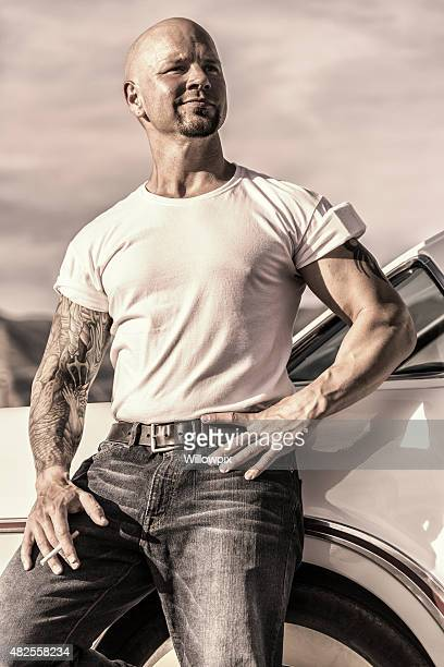 Cool Fifties Muscle Guy Portrait
