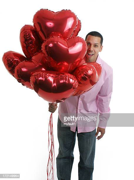 Cool guy with balloon bouquet