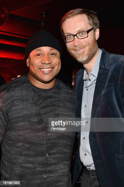 Cool J and actor Stephen Merchant attend HBO's 'Hello Ladies' friends and family screening at Avalon on September 26 2013 in Hollywood California