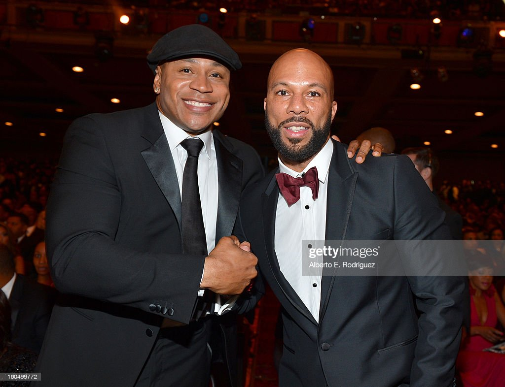 LL Cool J (L) and Common attend the 44th NAACP Image Awards at The Shrine Auditorium on February 1, 2013 in Los Angeles, California.