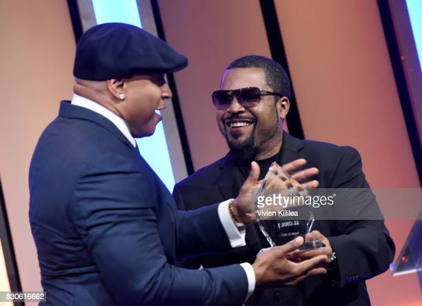 Cool J and Ice Cube attend the 17th Annual Harold Carole Pump Foundation Gala at The Beverly Hilton Hotel on August 11 2017 in Beverly Hills...
