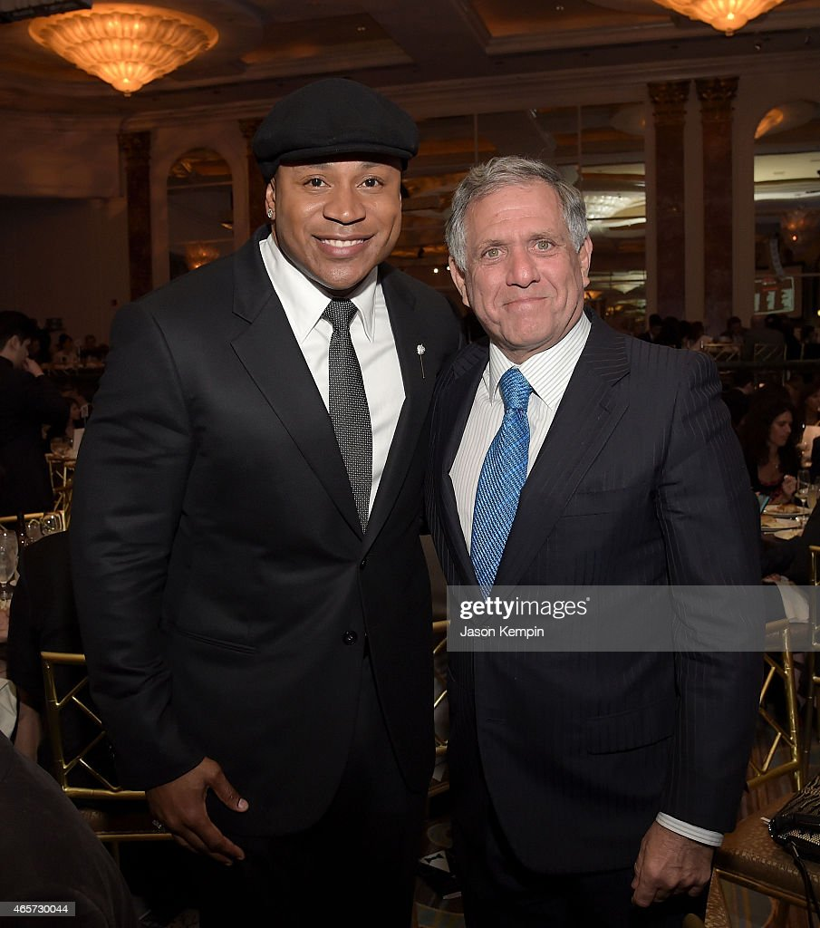 Cool J and Leslie Moonves attend Venice Family Clinic's 33rd Annual Silver Circle Gala at the Beverly Wilshire Four Seasons Hotel on March 9 2015 in...