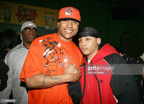 L L Cool J and Najee Smith during Cuervo Hosts LL Cool J Album Release Party April 11 2006 at BLVD in New York City New York United States