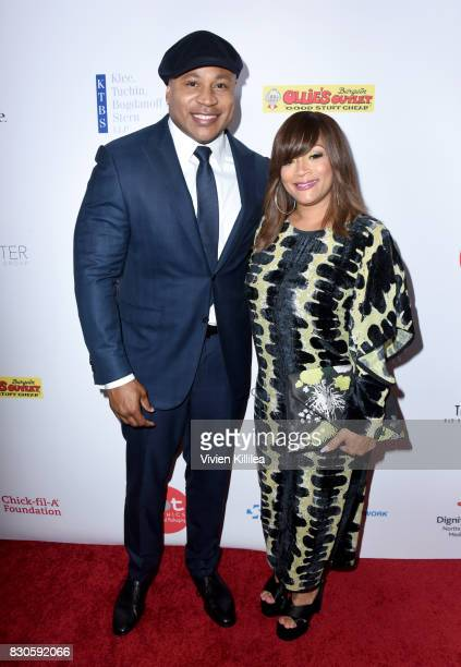 Cool J and Simone Smith attend the 17th Annual Harold Carole Pump Foundation Gala at The Beverly Hilton Hotel on August 11 2017 in Beverly Hills...