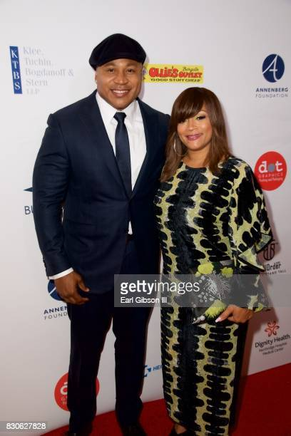 LL Cool J and Simone Smith attend the Harold Carole Pump Foundation Gala at The Beverly Hilton Hotel on August 11 2017 in Beverly Hills California