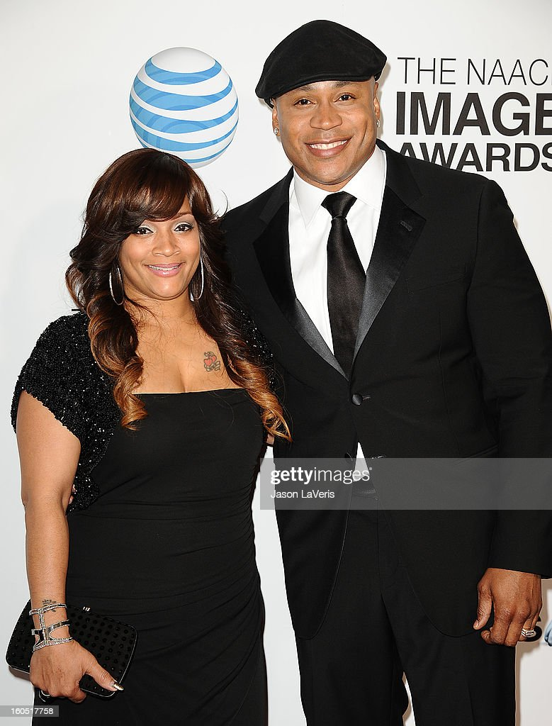 LL Cool J (R) and wife Simone I. Smith attend the 44th NAACP Image Awards at The Shrine Auditorium on February 1, 2013 in Los Angeles, California.